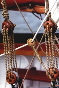 wood rope rigging
